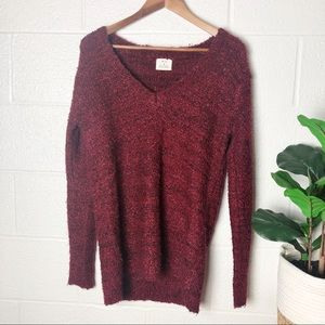 Pins & Needles Red and Black Chunky Sweater